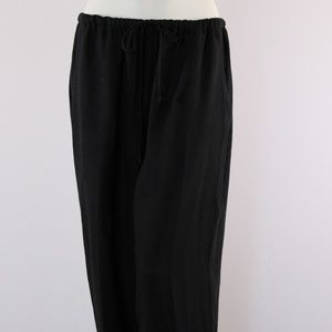 Flax Women's Medium Black Linen Pants